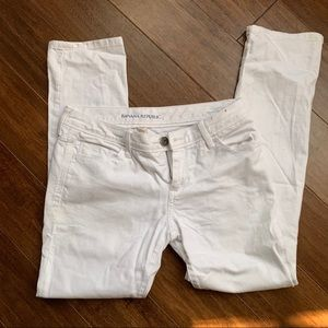 Banana Republic white pants